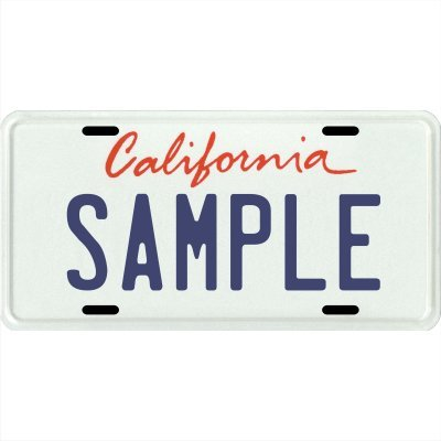 (Your Name Your State Custom Metal License Plate - Choose from All 50 States (California, 6