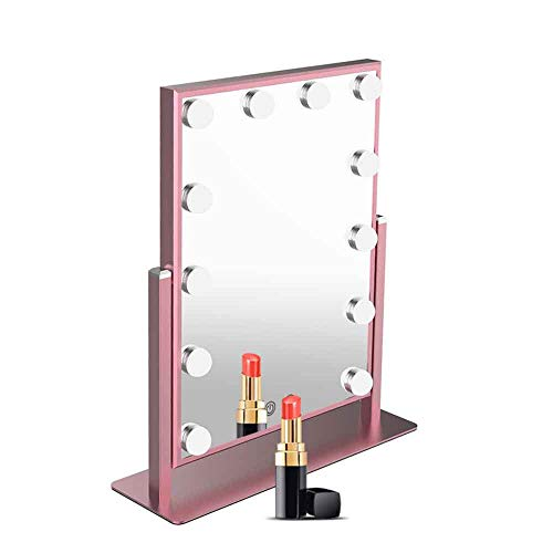 Nitin Lighted Vanity Mirror with Dimmable Touch Control, Hollywood Style Makeup Cosmetic - After Bathroom Before Frame And Mirrors