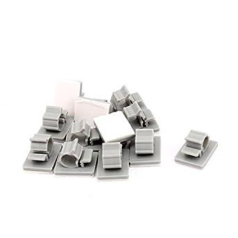 DealMux Kunststoff-Kabel-Draht-Halter Adhesive Clips Klemmen 6mm-7mm ...