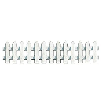 Club Pack of 36 Distressed Picket Fence Cutout Party Decorations 24.75""