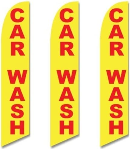 Pack of 8 Hardware not Included Carwash Welcome King Windless Flag