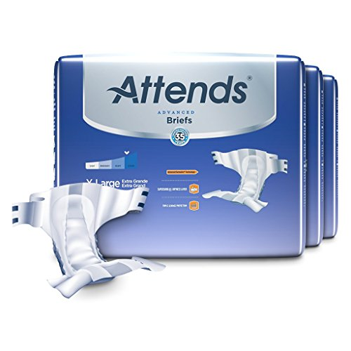 Attends Advanced Briefs With Advanced Dry Lock Technology For Adult Incontinence Care  Xl  Unisex    20 Count  Pack Of 3