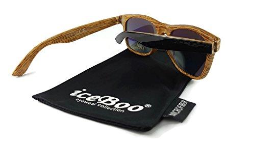 soleil grain Lunettes Wood W6004 Homme iceBoo pattern de AzpPa