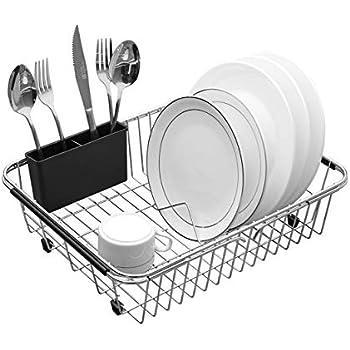 Amazon Com Gthunder Dish Drying Rack Overin Sink Basket