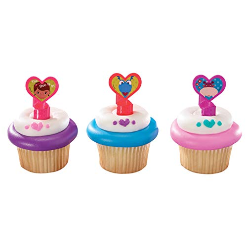 1 X 12 Disney's Doc Mcstuffins Cupcake Rings Toppers Party Favors