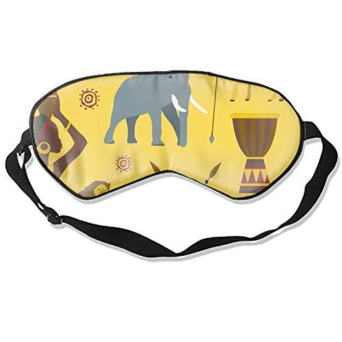- Sleep mask & Blindfold,Cute Sleep mask, Silk Sleep Mask for A Full Night's Sleep,Sleep mask for Women (Africa Icons Set Pattern)