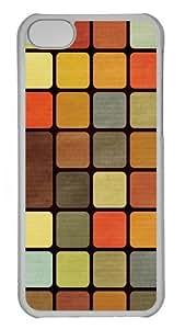 iPhone 5C Case, iPhone 5C Cases -Rubiks Cube Squares Retro Custom PC Hard Case Cover for iPhone 5C Transparent