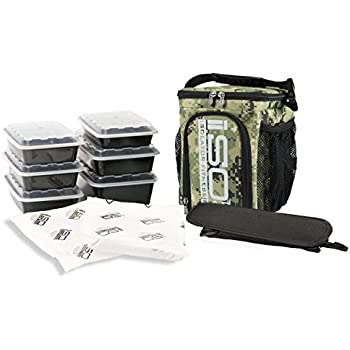 Isolator Fitness 3 Meal ISOCUBE Meal Prep Management Insulated Lunch Bag  Cooler with 6 Stackable Meal 31976d6f5463d