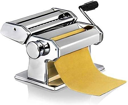 Sailnovo Máquina de Acero Inoxidable para Hacer Pasta Máquina de Cortar Pasta Fresca Máquina para Hacer Fideos Frescos Tallarines Lasañas Espaguetis