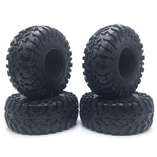 2.2 inch Truck Tires Front Rear Rubber Tires 4pcs Set with Foam for 1/10 RC Rock Crawler ()