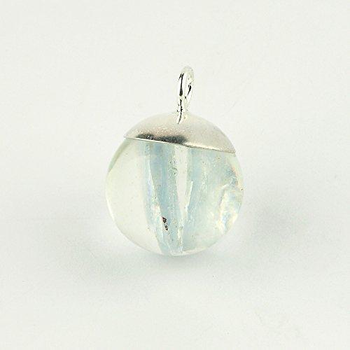 Anhänger Kugel (Perle) 18 mm mit natürlichem Blauem Baryt
