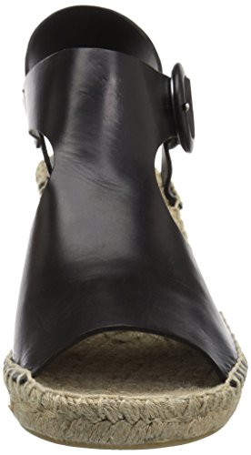buy cheap exclusive cheap 2015 Via Spiga Women's Nolan Espadrille Wedge Sandal Black Leather Q7p5FUr5b