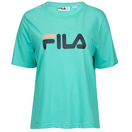 - Fila Women's Miss Eagle T-Shirt (Medium, Cockatoo, Peacoat, Peach)