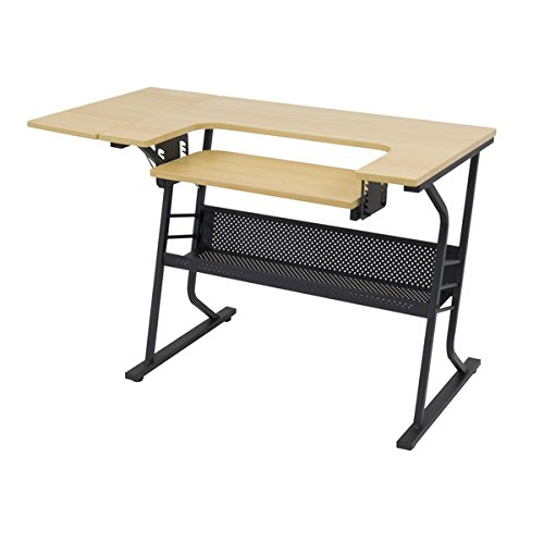 Maple Color Platform (Studio Designs Eclipse Sewing and Craft Table, Black/Maple)
