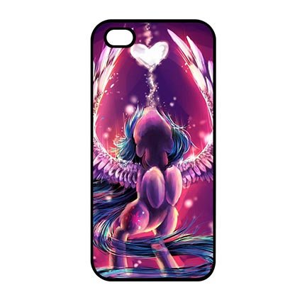Creative Anime My Little Pony Case Cover for iPod Touch 5th Generation - Customize Black iPod Touch 5th Generation Snap On Case Special Gift for Kids (My Little Pony Ipod Touch Case)