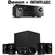Denon AVR-X2500H 7.2 CH 95W 4K Ultra HD WiFi/Bluetooth AV Receiver + Klipsch HDT-600 Home Theater System Bundle