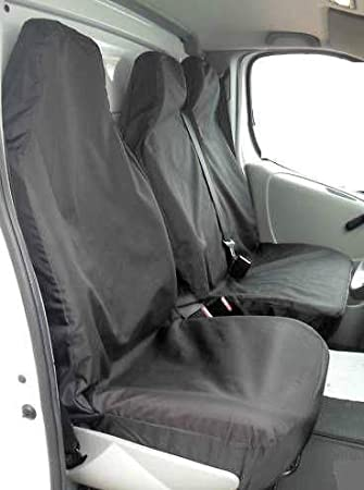 MERCEDES SPRINTER 2010 SINGLE HEAVY DUTY BLACK WATERPROOF VAN SEAT COVER