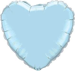 Balón Mylar corazón azul cielo perlado talla 23 cm (9) de la ...