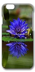 iPhone 6 Case, Custom Design Covers for iPhone 6 3D PC Case - Blue Lotus