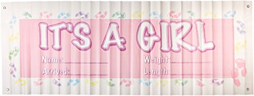 It's A Girl Sign Banner Party Accessory (1