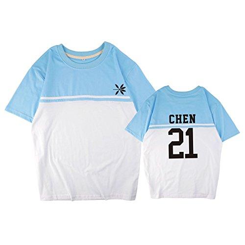 ACEFAST INC Kpop EXO T-shirt Chen Sehun Chanyeol Lay Xiumin Suho Baekhyun Spliced Shirts