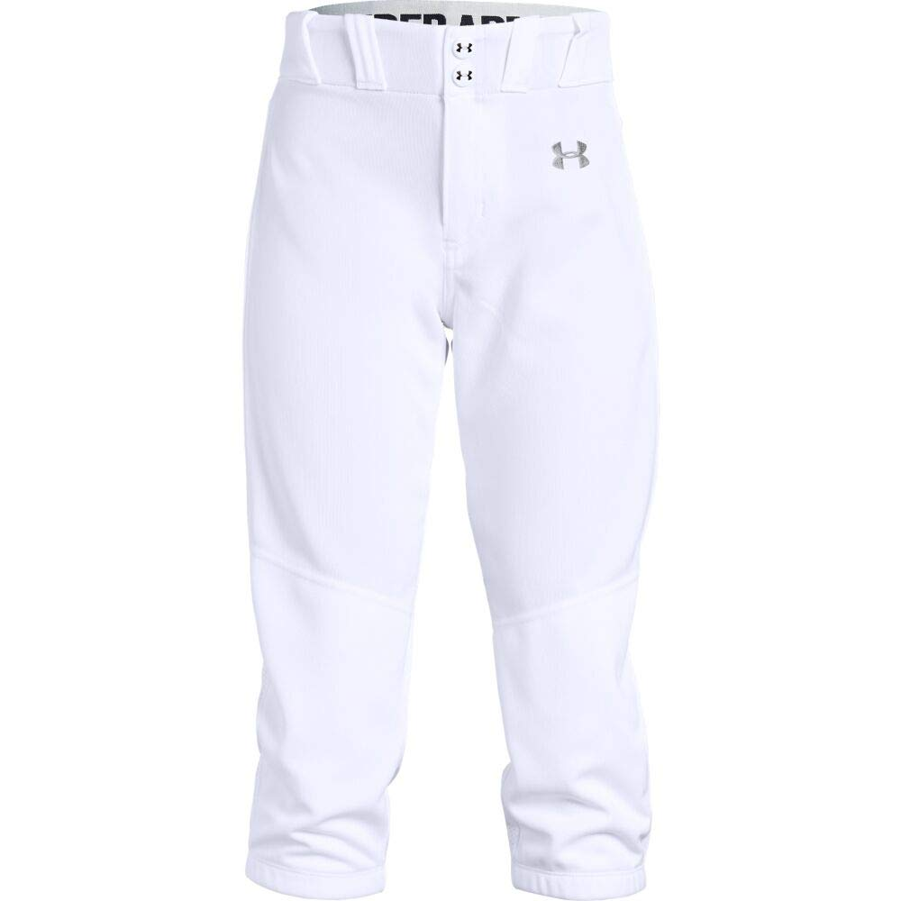 Under Armour Girls Softball Pants, White, Youth X-Small by Under Armour