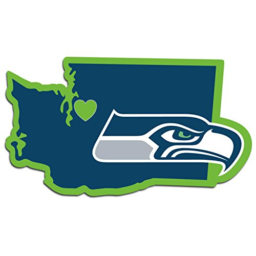 NFL Seattle Seahawks Home State Decal, (Seattle Seahawks Vinyl)