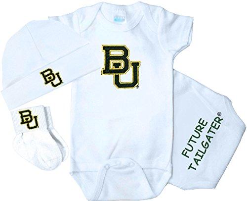 Future Tailgater Baylor Bears 3 Piece Baby Clothing Set (Newborn)