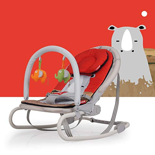 HYYTY-Y Baby Rocking Chair, Foldable Cushion for Winter and Summer Can Clean The Multifunctional Cradle 606-YY (Color : Rhino)