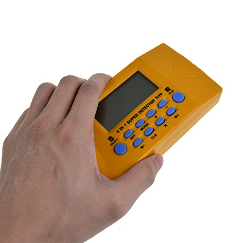 all-sun 4 in 1 Handheld Wood Stud Finder / Metal Detector / AC Electrical Wire Scanner / Ultrasonic Distance Measurement by all-sun