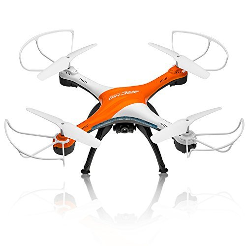 Drones with Camera, OOTTOO HD 2MP Camera Drone 2.4G 4CH 6Axis RC Quadcopter Headless Mode One Key Return (UAV) Bonus Battery Helicopter--Orange