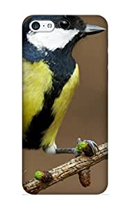 Awesome BNPmch-2569-lPbCR Throbbing Defender Tpu Hard Case Cover For Iphone 5c- Animal Bird Branch Tree Branch Cone Pine Cone Animal Pinecone