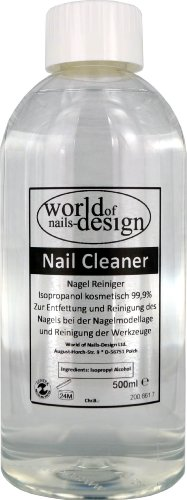 World of Nails-Design Nail Cleaner 99.9 % Isopropanol kosmetisch, 1er Pack (1 x 500 ml)
