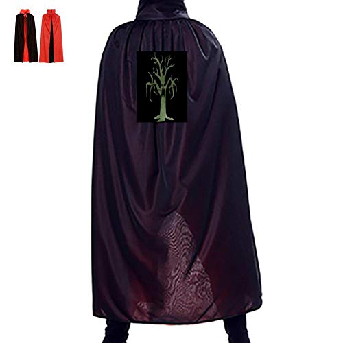 Warm season Grimy Trees Double Hooded Robes Cloak Knight Cosplay Costume 55(in) -