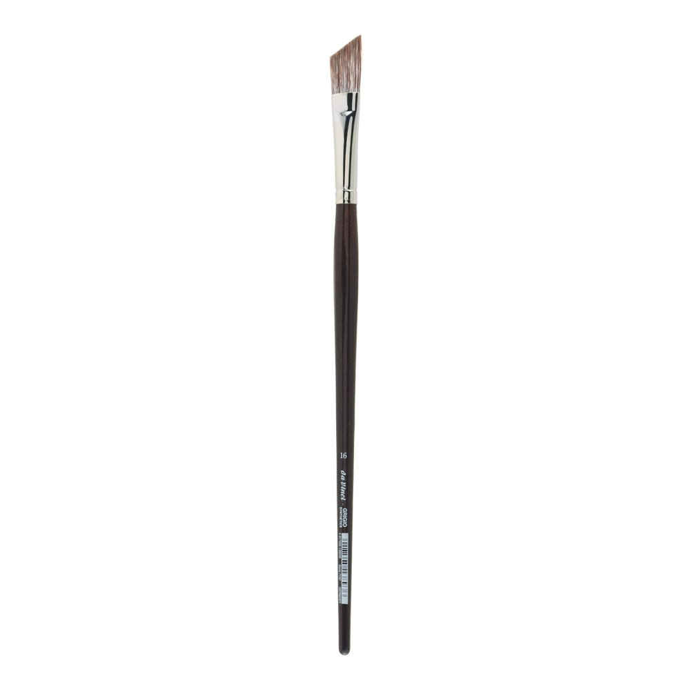 da Vinci Oil & Acrylic Series 7197 Grigio Paint Brush, Slant Synthetic with Bordeaux Ergonomic Handle, Size 16 (7197-16)