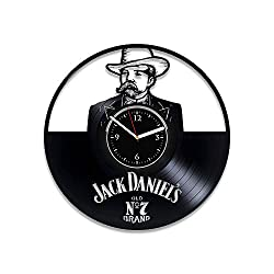 Clock Jack Daniel's Birthday For Man Whiskey Vinyl Record Clock Jack Daniel's Wall Art Alcohol Vinyl Wall Clock Jack Daniel's Wall Clock Vintage Xmas Idea For Him Jack Daniel's Home Decor