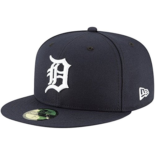 New Era 59Fifty Hat Detroit Tigers MLB Authentic On Field Home Navy Blue Fitted Cap (7 7/8)