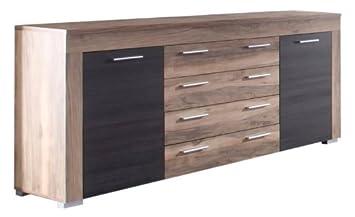 Trendteam Smart Living Wohnzimmer Sideboard Schrank Wohnzimmerschrank Boom,  176 X 79 X 40 Cm In