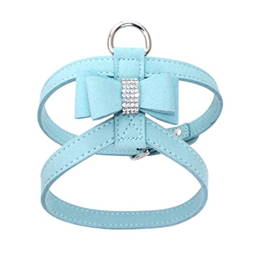 YJYdada Chest Straps, Adjustable Pet Dog Leads Bowknot Diamond Chest Straps (S, Light ()