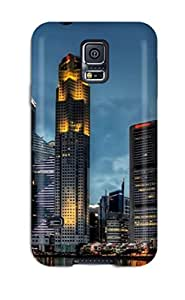 Fashion Tpu Case For Galaxy S5- Beautiful City Defender Case Cover