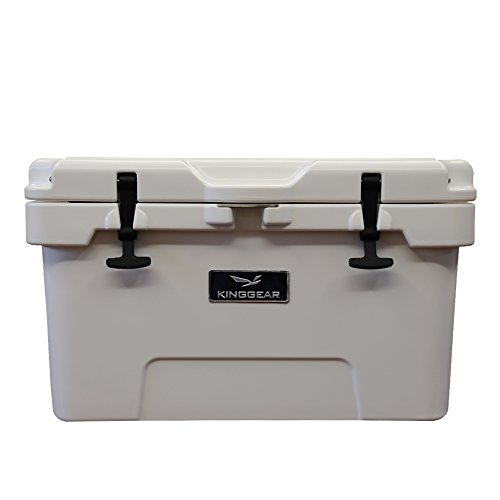 KingGear 37 Quart Ice Chest / Heavy Duty Cooler / High Performance Commercial Grade Insulation (37 Quart, White) - Excursion Tailgate Cooler