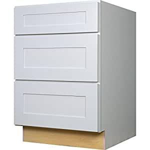 3 drawer base kitchen cabinets everyday cabinets 24 inch three drawer base 10158