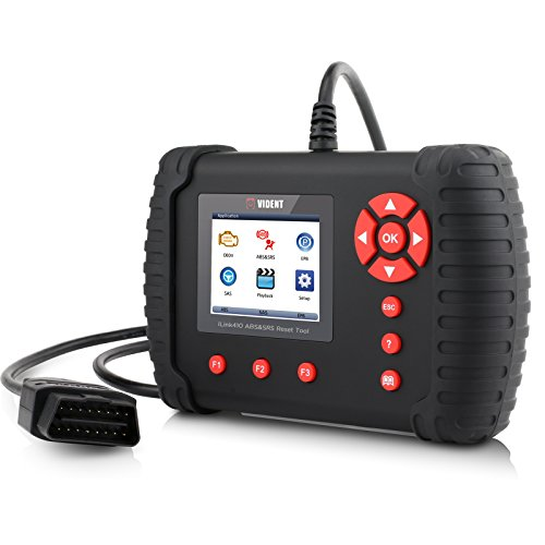 Car OBDII/OBD2 Code Reader, 2.8''LCD Color Display ILink410 Diagnostic Scan Tool for ABS Air Bag SRS Clear EPB Reset SAS Calibration Warning Light Turn Off by VIDENT (Image #5)