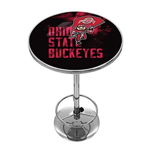 NCAA Ohio State University ''Smoking Brutus'' Chrome Pub Table by Trademark Gameroom
