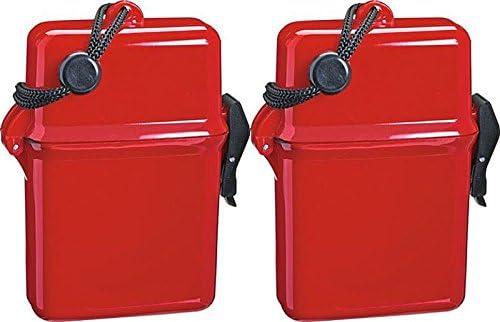 2 x Caja Rojo de playa playa Caja fuerte badesafe Natación Caja ...