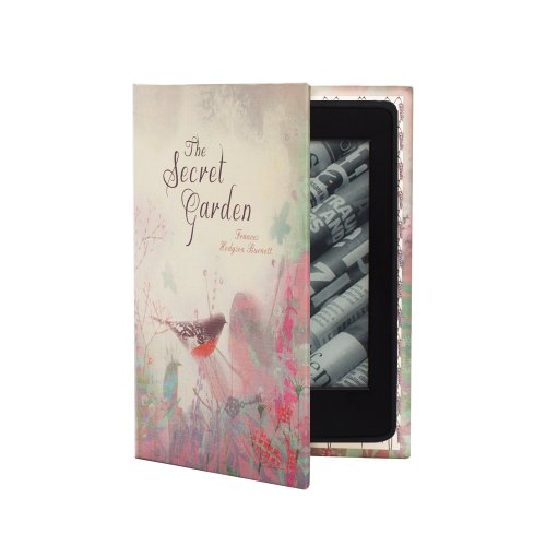Kindle Paperwhite Case (inc all new 2015 version) Book Cover Style – The Secret Garden