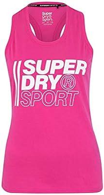 Superdry Core Graphic - Camiseta Deportiva para Mujer, Mujer, Tops Deportivos, GS3202YT, Súper Rosa, 8: Amazon.es: Deportes y aire libre