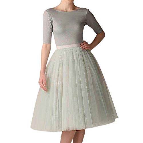 Mini Light Silver (WDPL Adult A-line Tulle Skirt Bridesmaid Petticoat Tutu Small Light Silver)