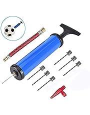 TBEONE Inflator Pomp, Hand Ball Pomp Kit met Naalden Ventiel Adapter en Luchtslang Inflator Pomp voor Ballon Voetbal Basketbal