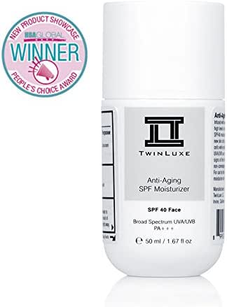 TwinLuxe Anti-Aging SPF 40 Moisturizer, 1.67 fl. oz.
